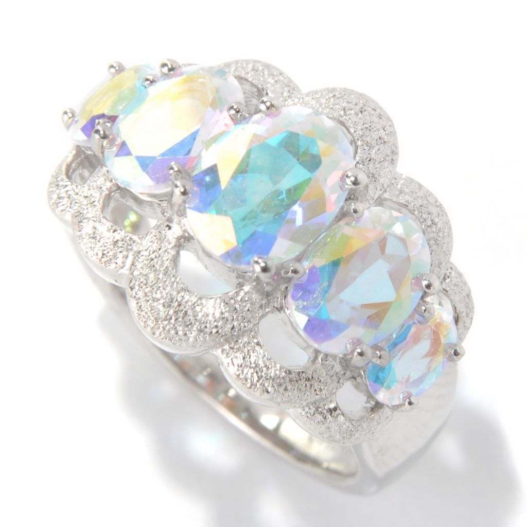 131-159 - NYC II 3.09ctw Oval Fancy Topaz Stardust Finished Five-Stone Ring
