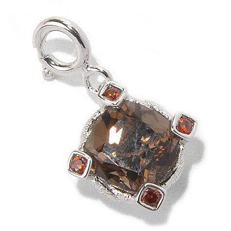 131-166 - NYC II 2.68ctw Zircon & Quartz Textured Charm