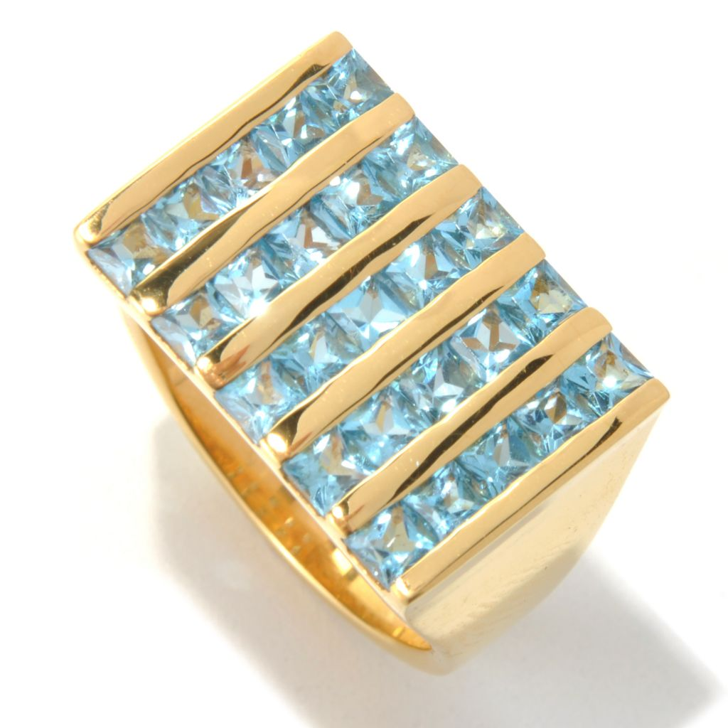 131-171 - NYC II Men's 4.50ctw Swiss Blue Topaz Five-Column Ring