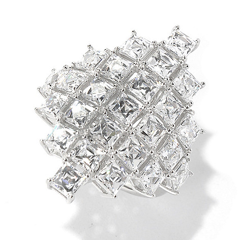 131-183 - TYCOON 7.27 DEW Simulated Diamond Marquise Shaped Ring