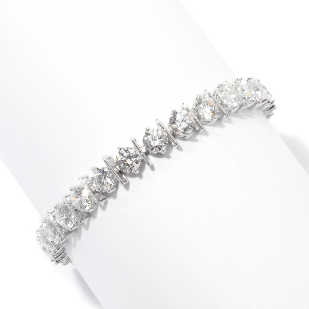 131-222 - Brilliante® Round Cut Bar Station Simulated Diamond Line Bracelet