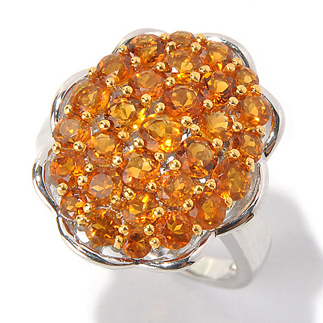 131-272 - Gem Treasures Sterling Silver 1.95ctw Madeira Citrine Oval Scallop Ring