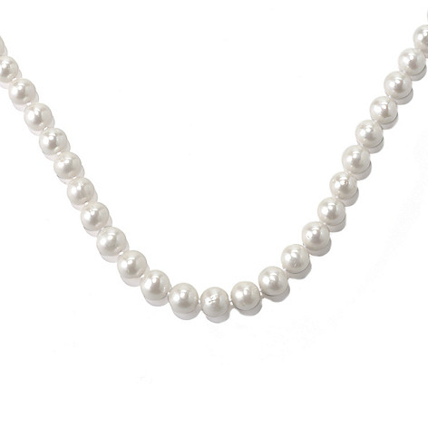 131-273 - Sterling Silver 10.5-11.5mm White Freshwater Cultured Pearl Necklace