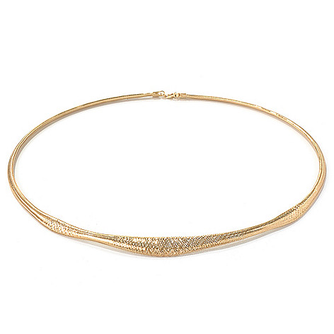 131-370 - Italian Designs with Stefano 14K Gold 18'' Stretch Mesh Omega Necklace