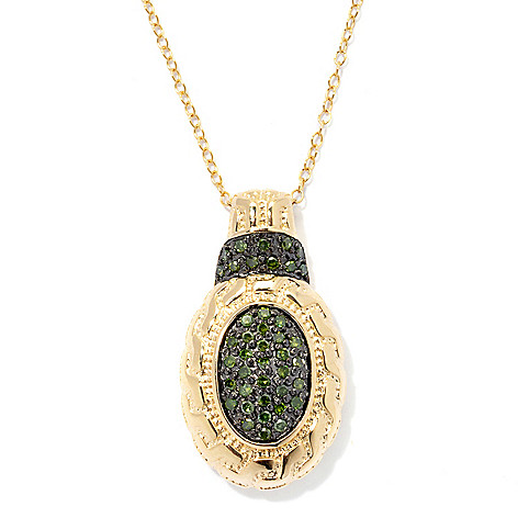 131-378 - Diamond Treasures 0.40ctw Fancy Color Diamond Pendant w/ 18'' Chain
