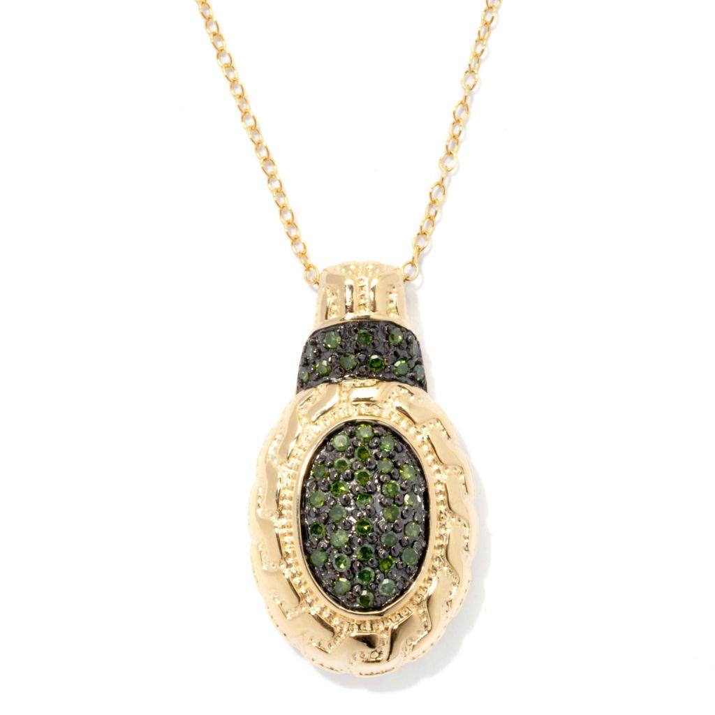 "131-378 - Diamond Treasures 0.40ctw Fancy Color Diamond Pendant w/ 18"" Chain"
