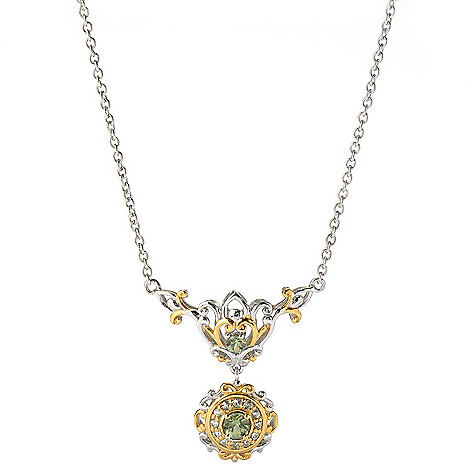 131-482 - The Vault from Gems en Vogue II 18'' Tashmarine & Green Sapphire Drop Necklace