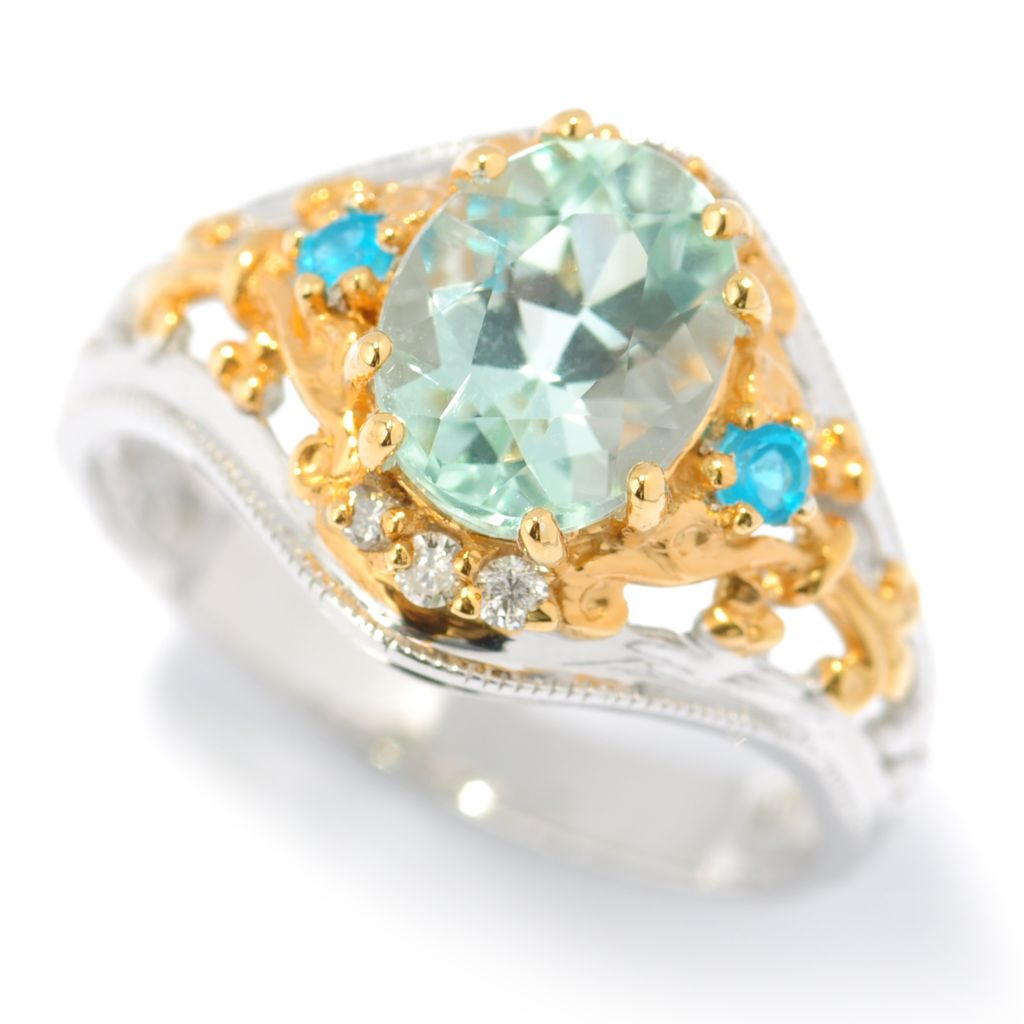 131-488 - The Vault from Gems en Vogue II 2.04ctw Amblygonite & Multi Gem Ring
