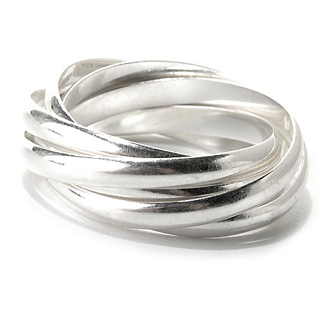 131-547 - SempreSilver® Intertwined Multi Band Polished Ring