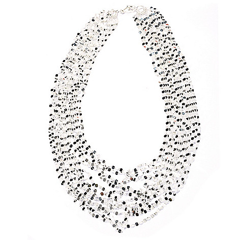 131-553 - SempreSilver® 17.5'' Polished 15-Strand Nested Necklace