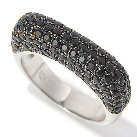 131-593 - NYC II 1.20ctw Black Spinel Square Euro Top Band Ring