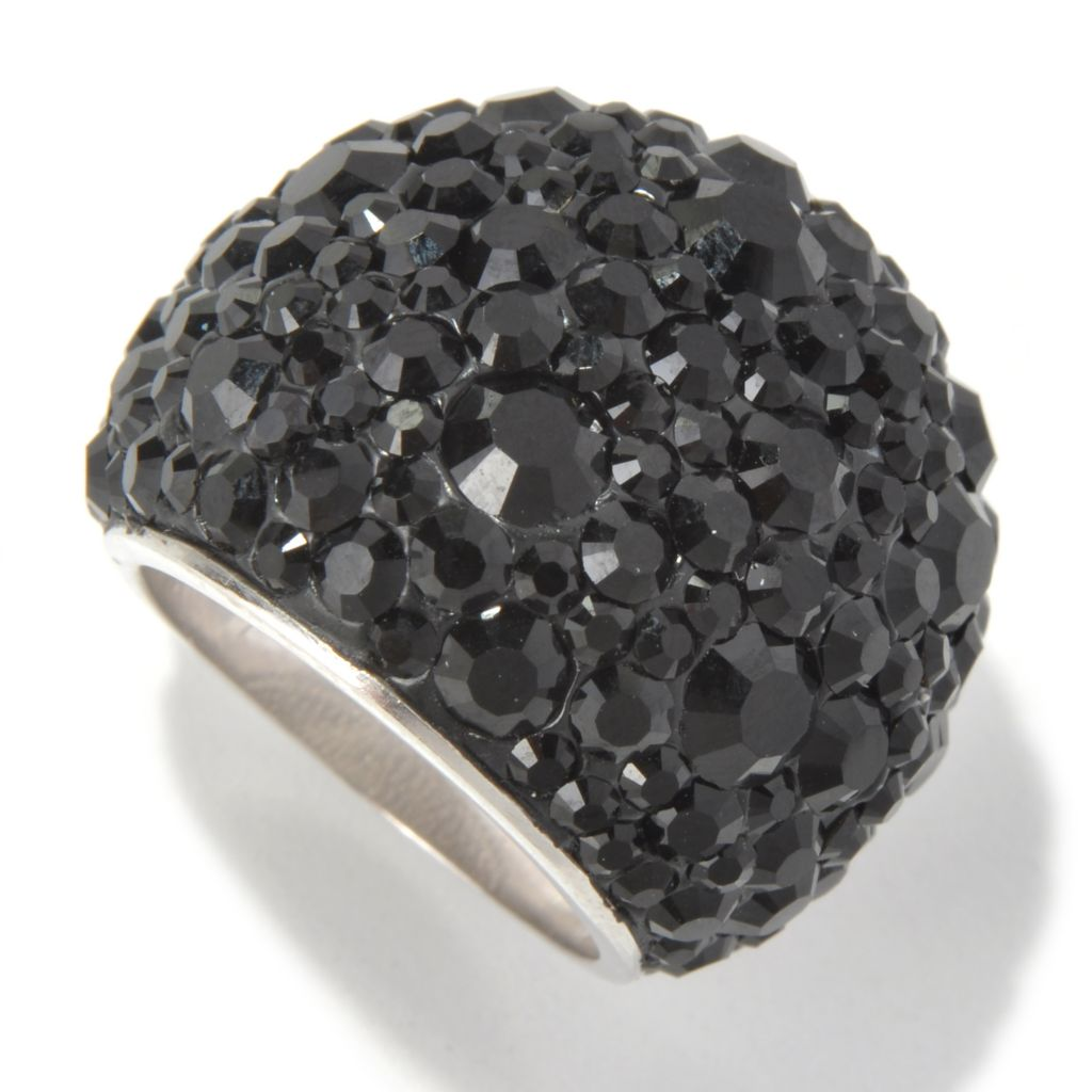 131-597 - Adaire™ Sterling Silver Dome Ring Made w/ Swarovski® Elements