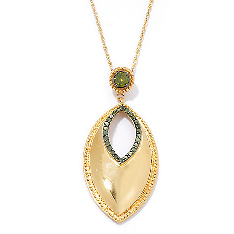 131-609 - Southport Diamonds 0.53ctw Fancy Colored Diamond Marquise Cut-out Pendant w/ Chain