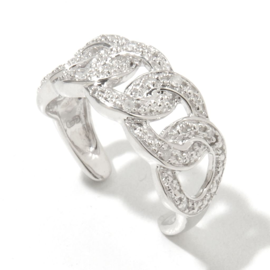 131-612 - Diamond Treasures Sterling Silver 0.03ctw Fancy Diamond Toe Ring