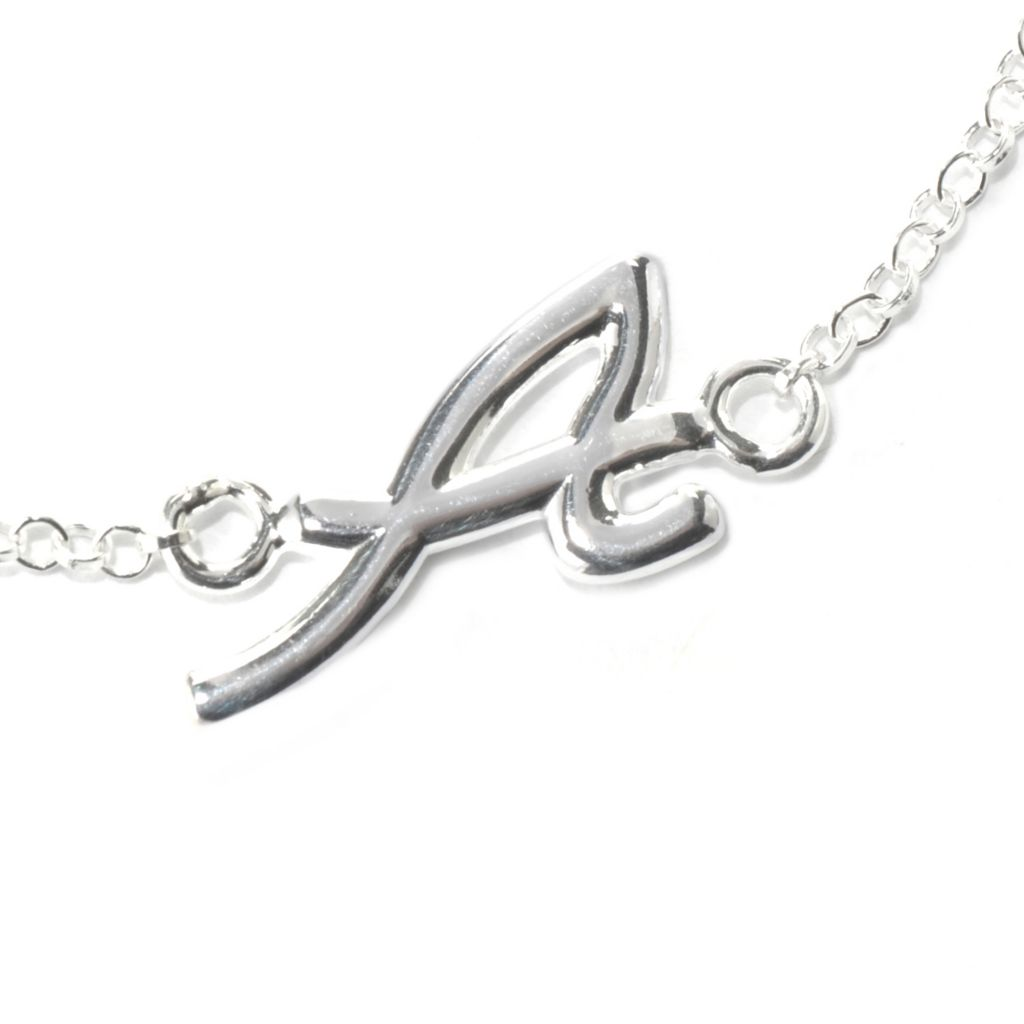 131-709 - SempreSilver® Rolo Link Initial Anklet