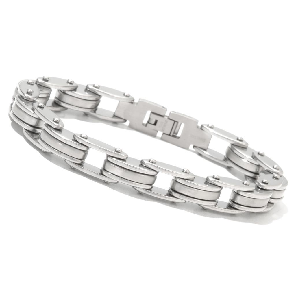 131-795 - Steel Impact™ Men's Stainless Steel Bicycle Chain Link Bracelet
