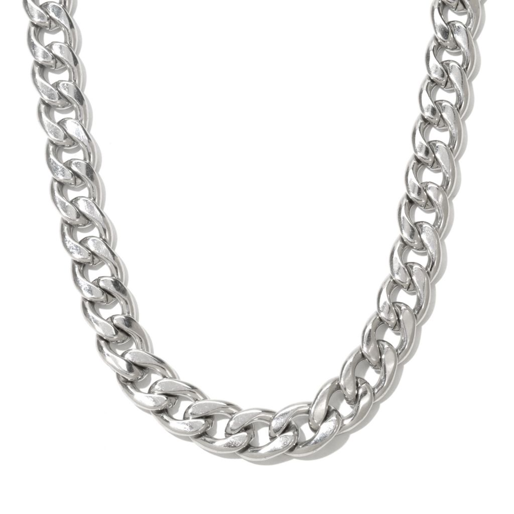 131-805 - Steeltime Men's Stainless Steel Curb Link Necklace