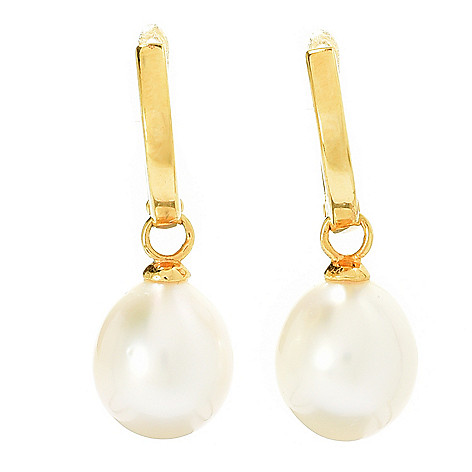 131-817 - 9-10mm Golden South Sea Cultured Pearl Huggie Earrings