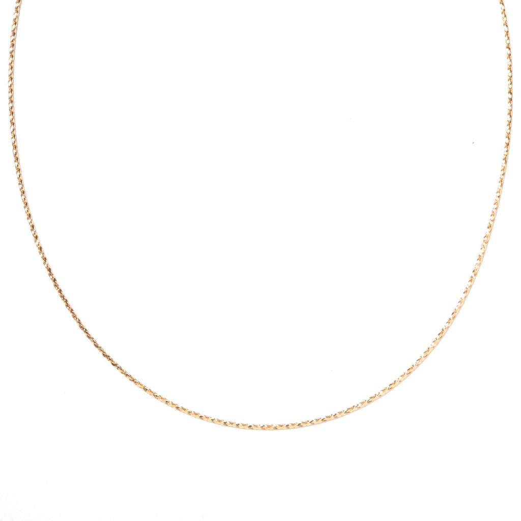 "131-876 - Italian Designs with Stefano 14K Gold 18"" Braided Omega Necklace"