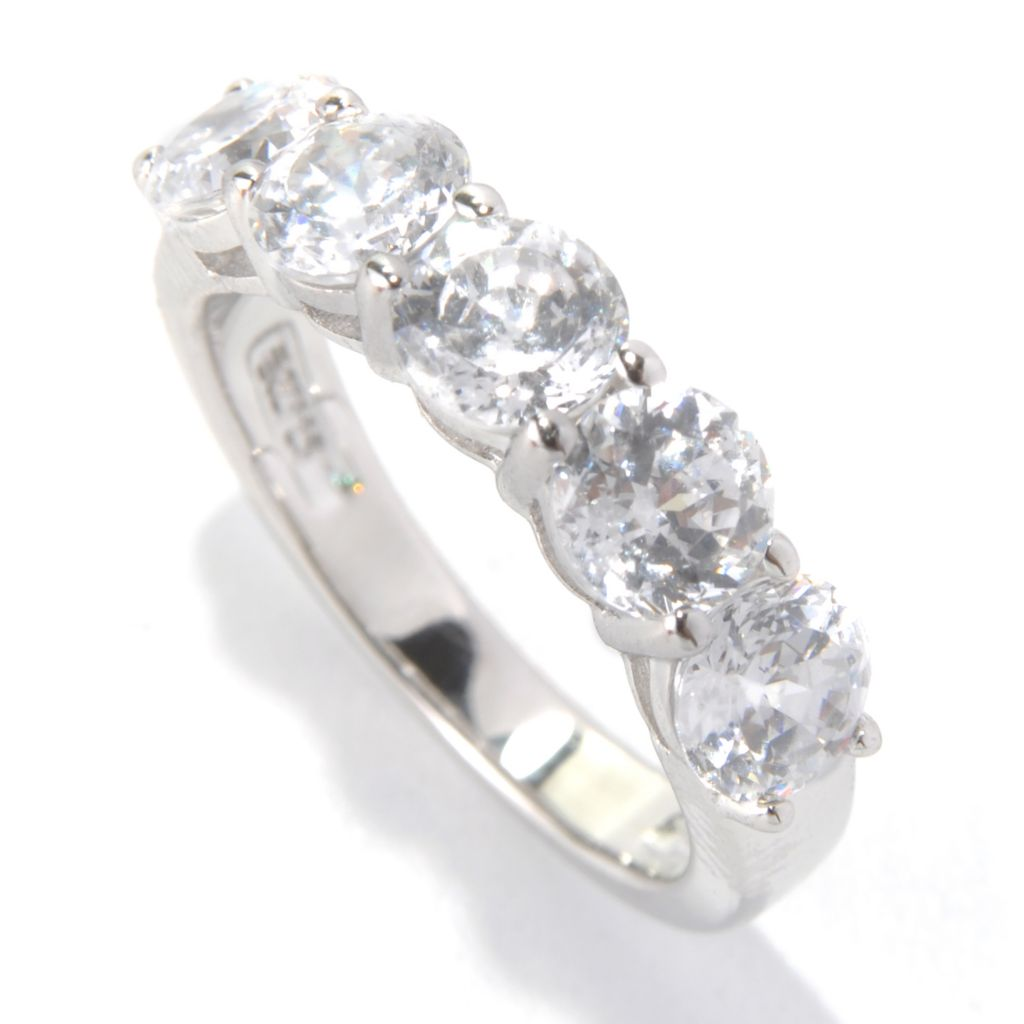 131-961 - Brilliante® 2.86 DEW Round Faceted Simulated Diamond Five-Stone Ring
