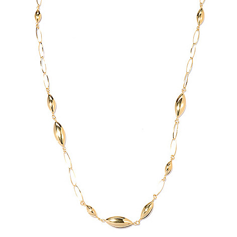 131-984 - Portofino Gold Embraced™ 40'' Polished Almond Shaped Station Necklace