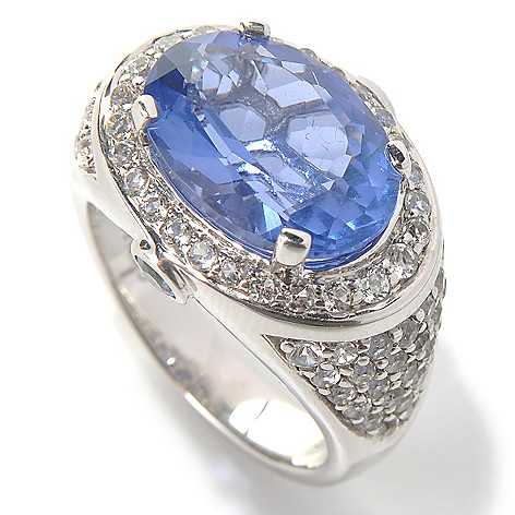 131-992 - Gem Insider Sterling Silver 7.68ctw Color Change Fluorite & Multi Gem Ring