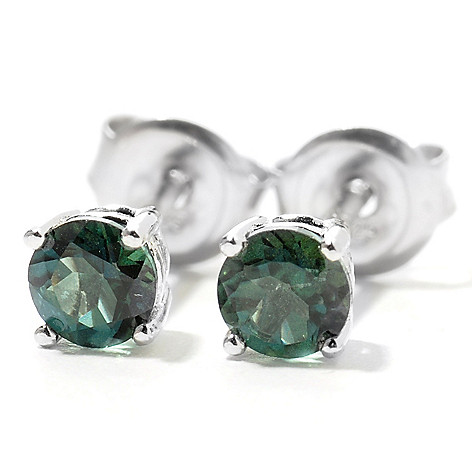 132-032 - Gem Treasures Sterling Silver 4mm Topaz Petite ''Kellie Anne'' Stud Earrings