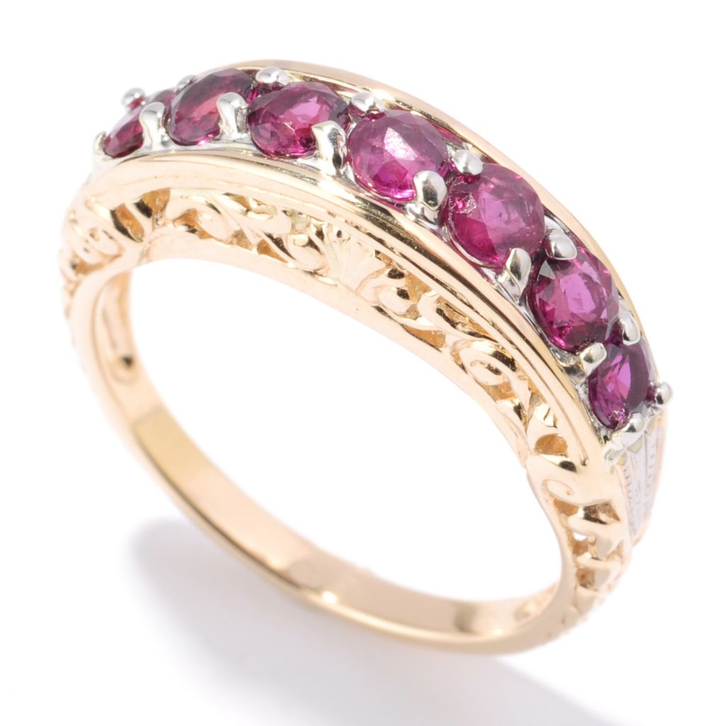 132-101 - The Vault from Gems en Vogue II 14K Gold 1.33ctw Ruby Scroll Band Ring