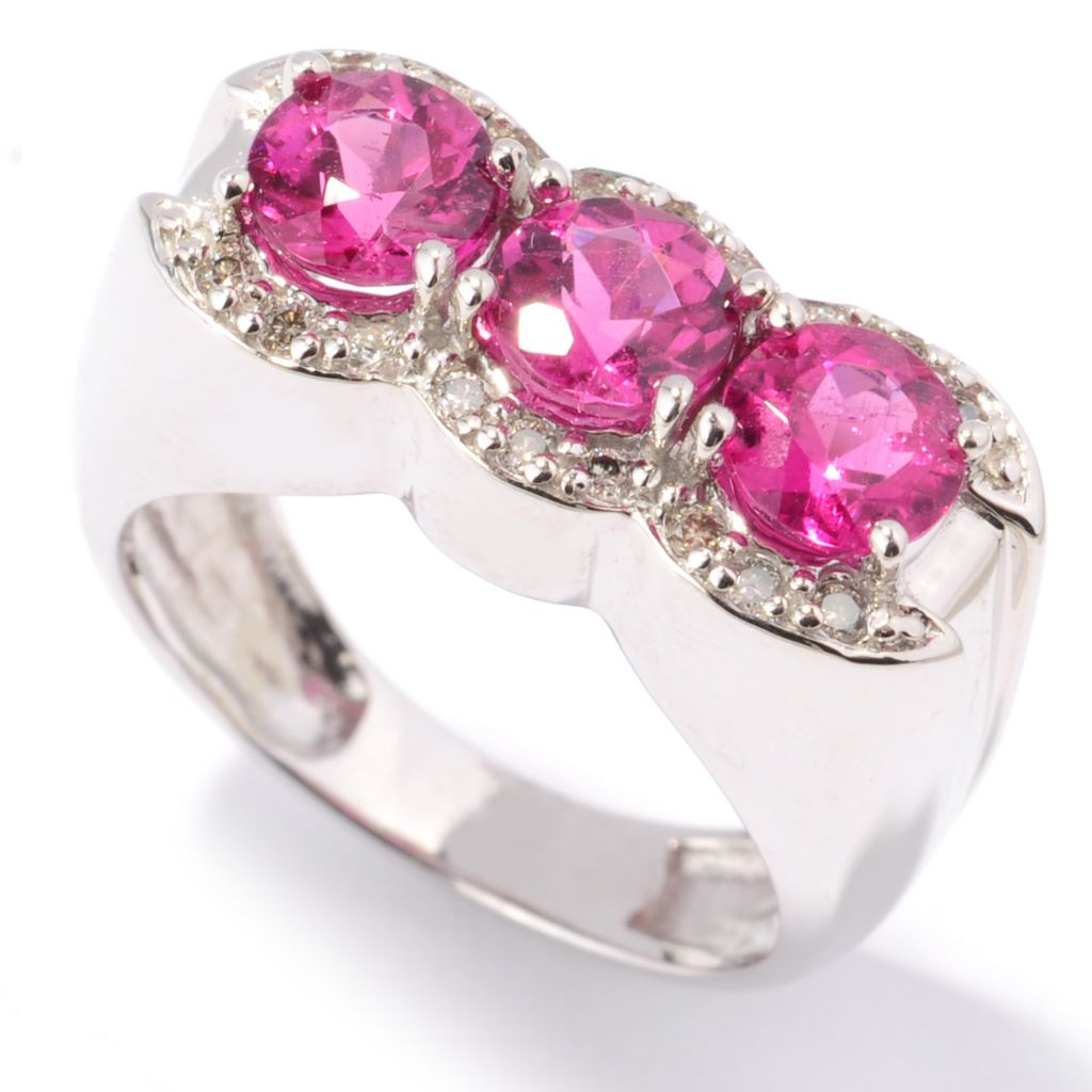 132-114 - The Vault from Gems en Vogue II 14K White Gold 1.64ctw Rubellite & Diamond Ring