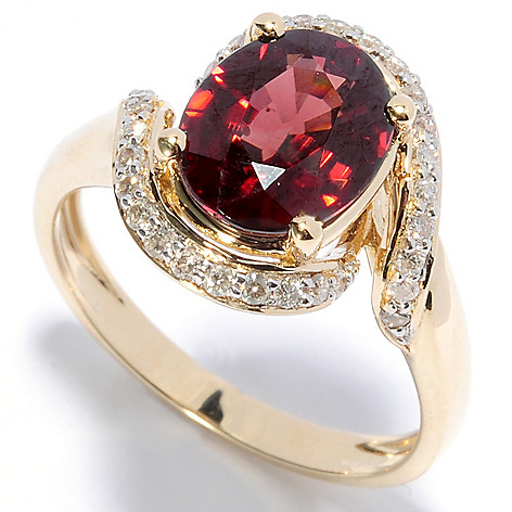 132-165 - Gem Treasures® 14K Gold 3.59ctw Fancy Color Zircon & Diamond Ring