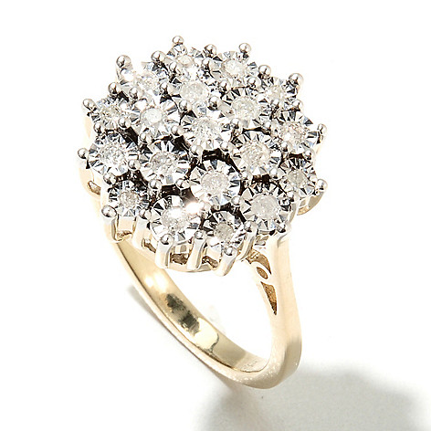 132-221 - Diamond Treasures® 0.25ctw Round Cut Diamond Cluster Ring