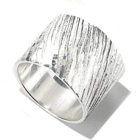 132-239 - SempreSilver® Diagonal Diamond Cut Ring