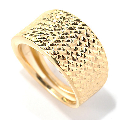 132-399 - Italian Designs with Stefano 14K Gold ''Stagione di Luci'' Diamond Cut Ring
