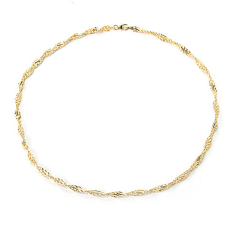 132-414 - Italian Designs with Stefano 14K Gold Textured Twist Necklace