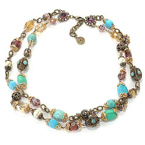 132-469 - Sweet Romance™ 20'' Crystal & Glass Bead Double-Strand Necklace