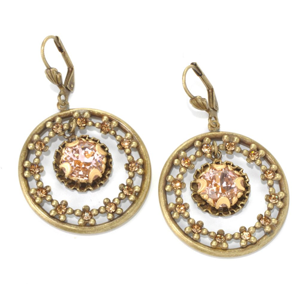 "132-472 - Sweet Romance™ 2"" Round Crystal Circle Drop Earrings"