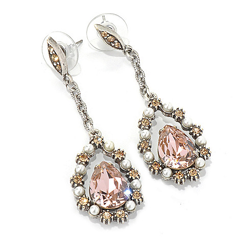 132-473 - Sweet Romance™ 2.25'' Elongated Pear ''Lorena'' Drop Earrings