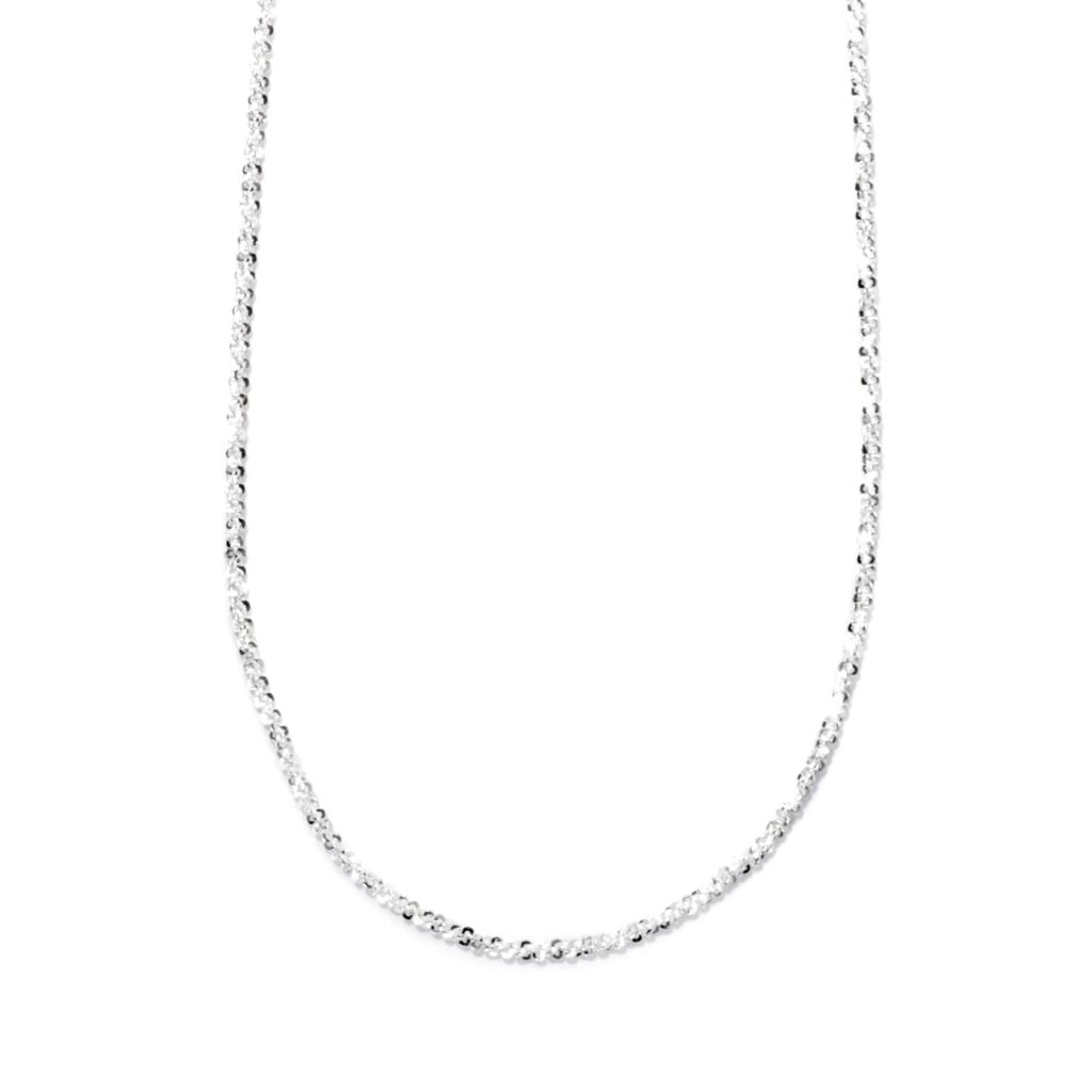 "132-504 - SempreSilver® 24"" Polished Diamond Cut Bead Adjustable Necklace"