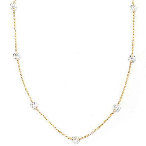 132-511 - Brilliante® 18'' 8.40 DEW Rose Cut 100-Facet Simulated Diamond Station Necklace