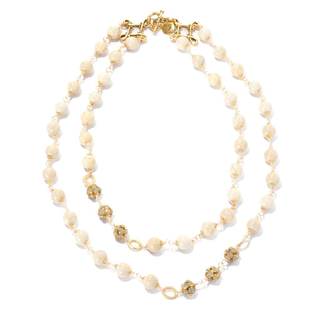 "132-533 - mariechavez 17.5"" River Stone Double Strand Necklace Made w/ Swarovski® Elements"