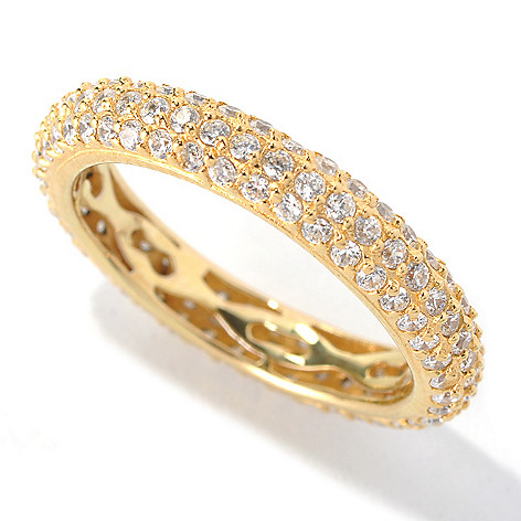 132-549 - Brilliante® 1.33 DEW Pave Simulated Diamond ''Go To'' Eternity Stack Band Ring