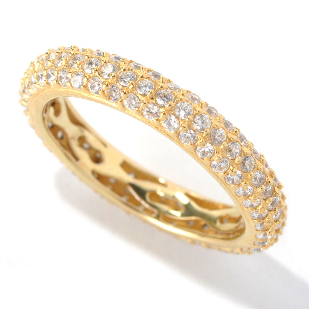 "132-549 - Brilliante® 1.33 DEW Pave Simulated Diamond ""Go To"" Eternity Stack Band Ring"