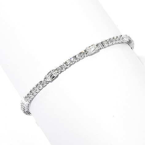 132-811 - TYCOON Platinum Embraced™ Royal TYCOON CUT Simulated Diamond Line Bracelet