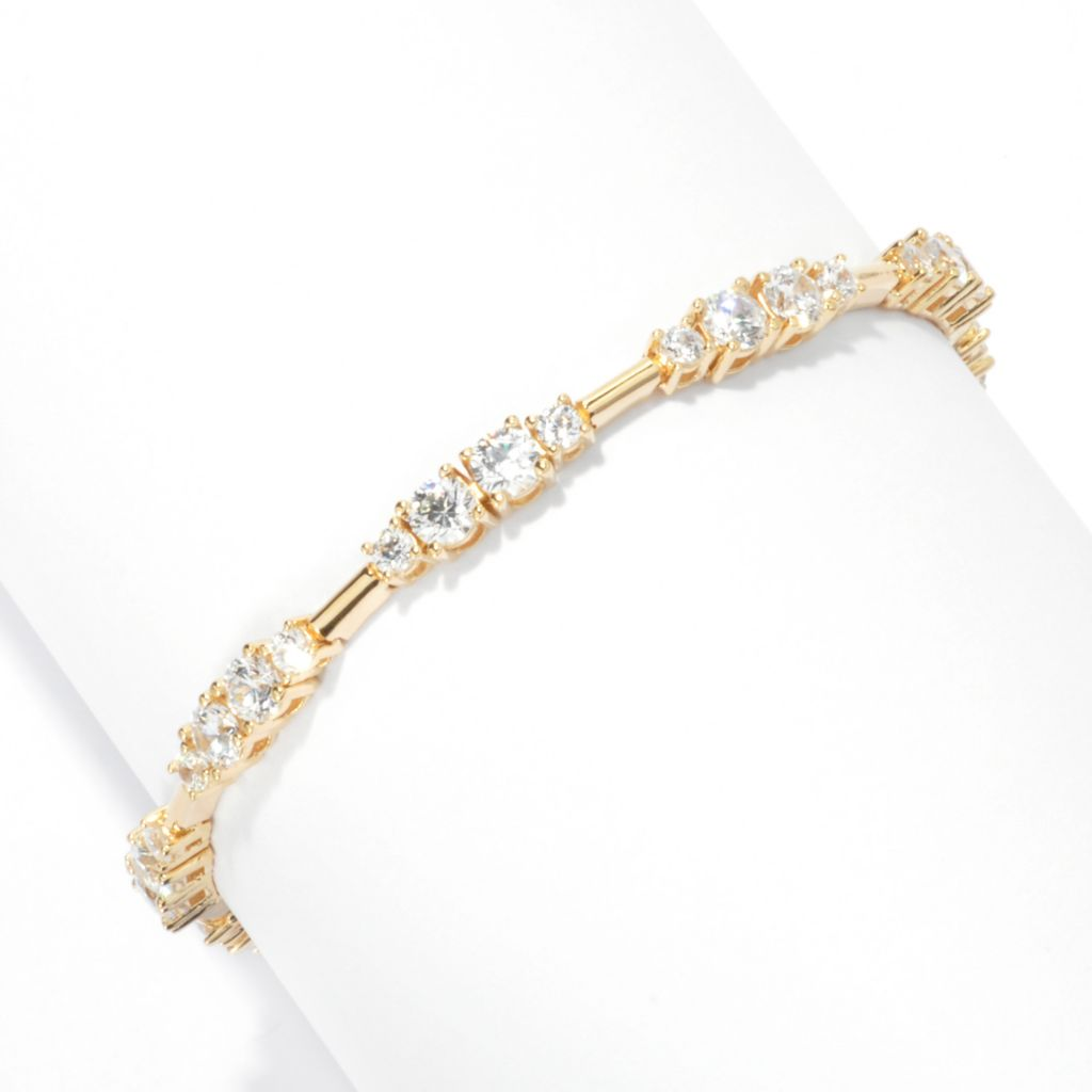 132-880 - Brilliante® Round Simulated Diamond Station Line Bracelet