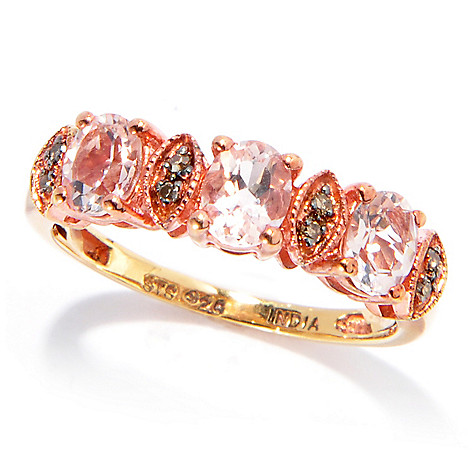 132-900 - NYC II™ Exotic Gemstone & Fancy Color Diamond Stack Band Ring