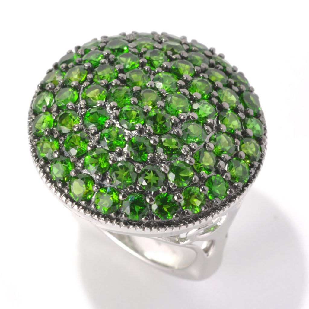 132-926 - NYC II 4.56ctw Chrome Diopside Round Top Contoured Ring