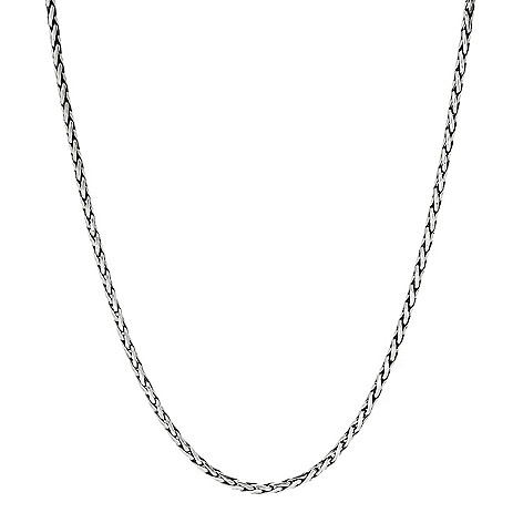 132-967 - Artisan Silver by Samuel B. 18'' Polished Wheat Chain Necklace, 9.7 grams