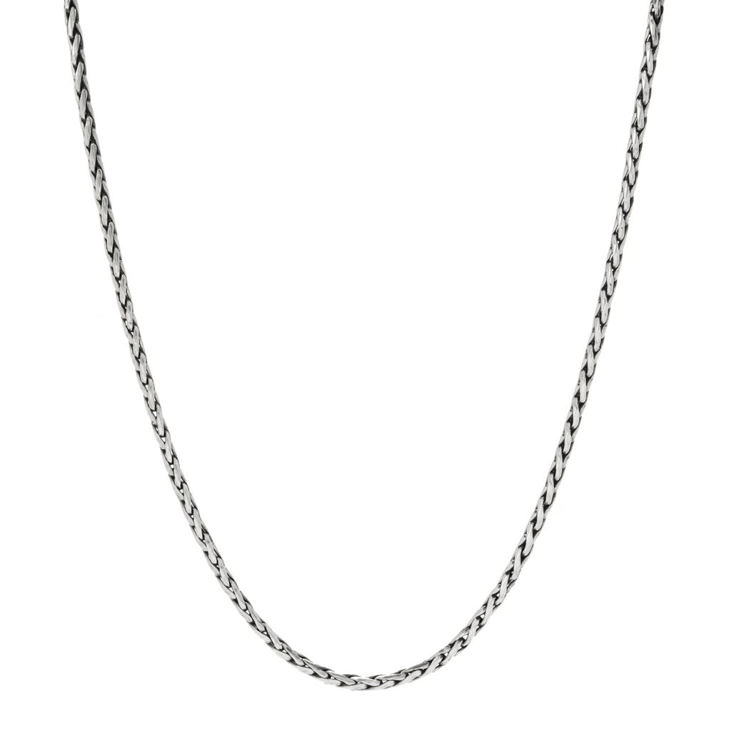 "132-967 - Artisan Silver by Samuel B. 18"" Polished Wheat Chain Necklace, 9.7 grams"