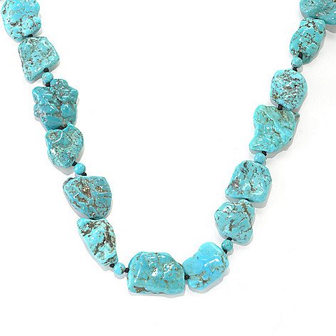 133-013 - Gem Insider™ 36'' Freeform & Round Turquoise Endless Necklace
