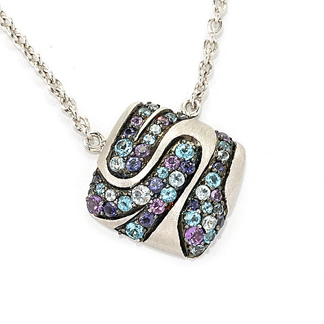 133-094 - EFFY Sterling Silver 1.26ctw Gemstone Balissima Necklace